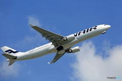 「青い空」が一番 Finnair A330-202 OH-LTN離陸