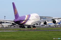 「青色」 THAI A380-841 HS-TUF 到着です