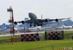 「青色」 POLAR 747-87U N851GT 飛行
