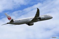 「良い空~」 JAL 787-9 JA862J Takeoff
