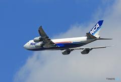 「良い空~」 NCA 747-8KZF JA15KZ 出発です