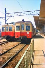 内灘駅にて(1987年)