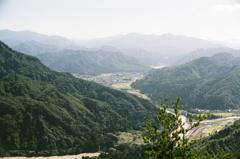 蒲生岳山頂より只見方面を望む
