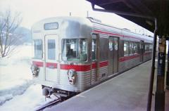 木島駅にて(2001年)