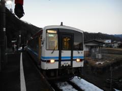 口羽駅にて