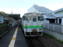 夕張駅にて