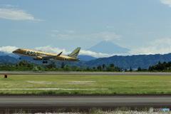 ゴールドボディと富士山