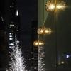 東京イルミネーション 映りこむ灯り