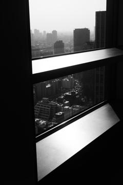 貿易センターの夕暮れ