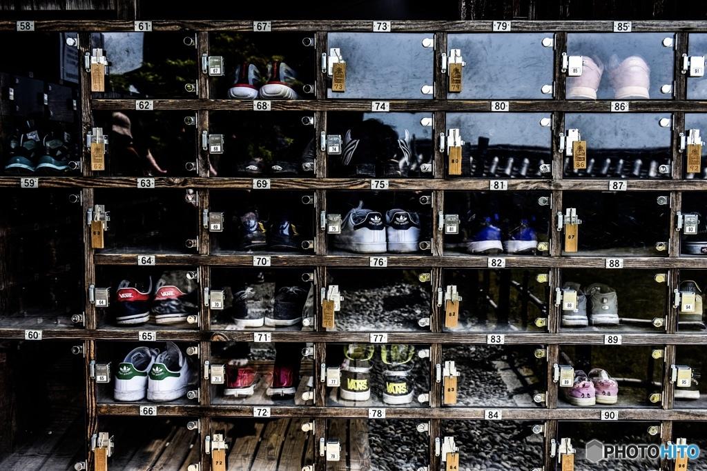 高知城の靴箱