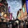 南京東路の夕方