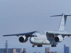 2018小牧基地オープンベースにC-2飛来(2)