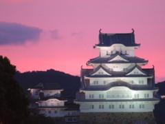 夕景の姫路城