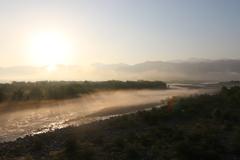 黒部川の朝景