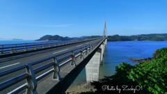 鷹島より九州を望む