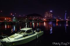 ボートと福岡タワー