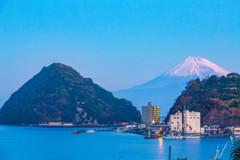 2018年元旦 淡島と富士山