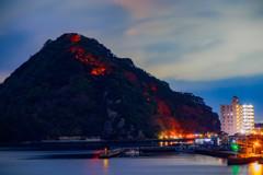 2017年年越し淡島ライトアップ