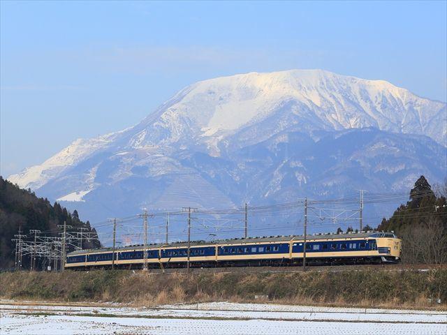 JR東日本.583系団体列車.東海道本線.近江長岡‐柏原_s