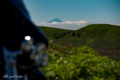 富士を望む快走路にて