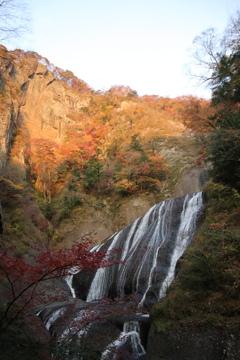 夕方の袋田の滝