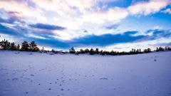 雪景色 鳥取砂丘