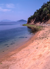 倉橋島の砂浜