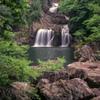 新緑の三段峡三ツ滝