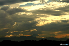富士山を覆う雲