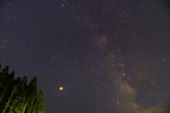 高野山 天の川 流れ星