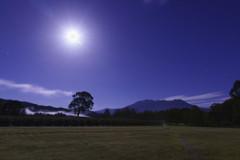 中秋の名月と御嶽山