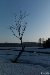 早春の尾瀬沼