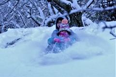 姉妹(雪遊び編)