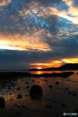 小豆島からの夕日