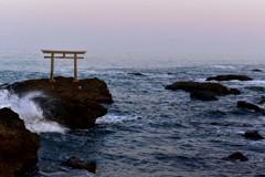 夕方の大洗磯前神社