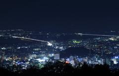 吉野川河口 夜景