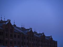 寒い日の夕暮れ
