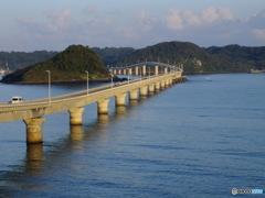 朝の角島大橋
