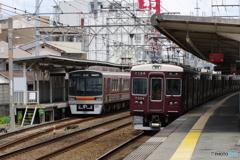 富田駅にて