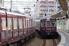 相川駅にて阪急3300系