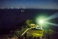 地球岬からの灯台
