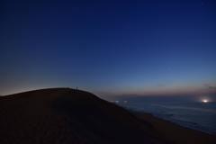鳥取砂丘から見る星