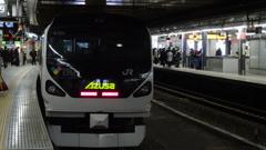 JR東日本 E257系0番台 あずさ13号(新宿9番ホーム)