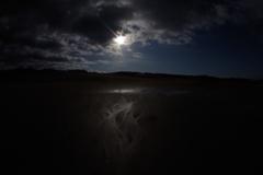 雨降り後の日本最大砂場