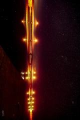 八郎湖と大潟橋と星空