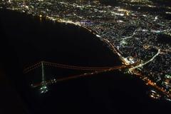 空撮!明石海峡大橋