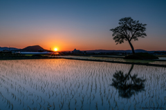 [ A Cloudless Sunset ]