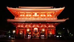 浅草寺の夜