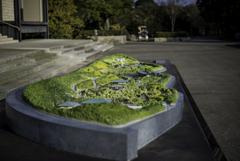 日本庭園の立体地図