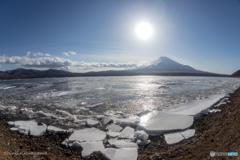 山中湖の氷